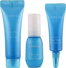 Парфумерія, косметика Нібір мініатюр для зволоження шкіри - Laneige Water Bank Hydro Kit (essence/10ml+cr/10ml+eye/gel/3ml)