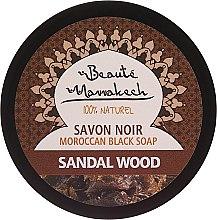 Духи, Парфюмерия, косметика Натуральное черное мыло с маслом сандалового дерева - Beaute Marrakech Black Soap
