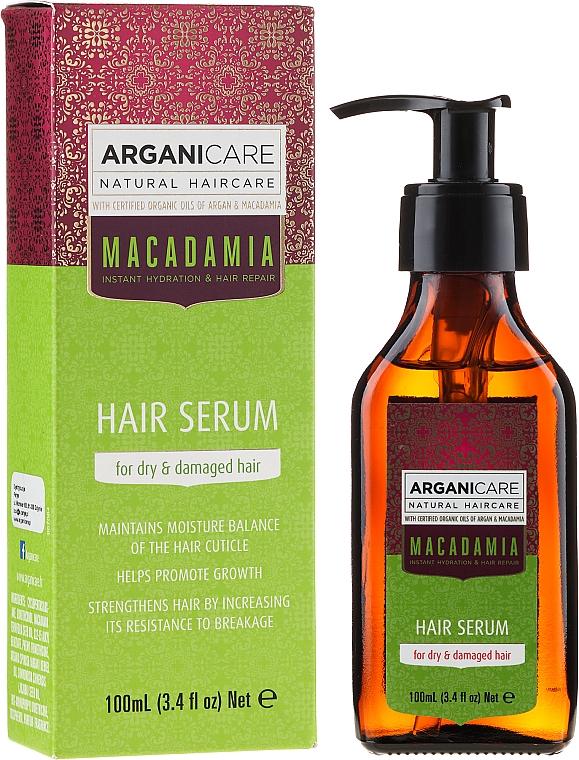 """Сыворотка для волос """"Поврежденные кончики"""" - ArganiCare Macadamia Hair Serum for Dry & Damaged Hair"""