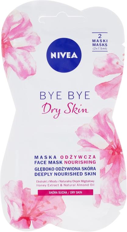 Питательная маска для лица для сухой кожи - Nivea Bye Bye Dry Skin