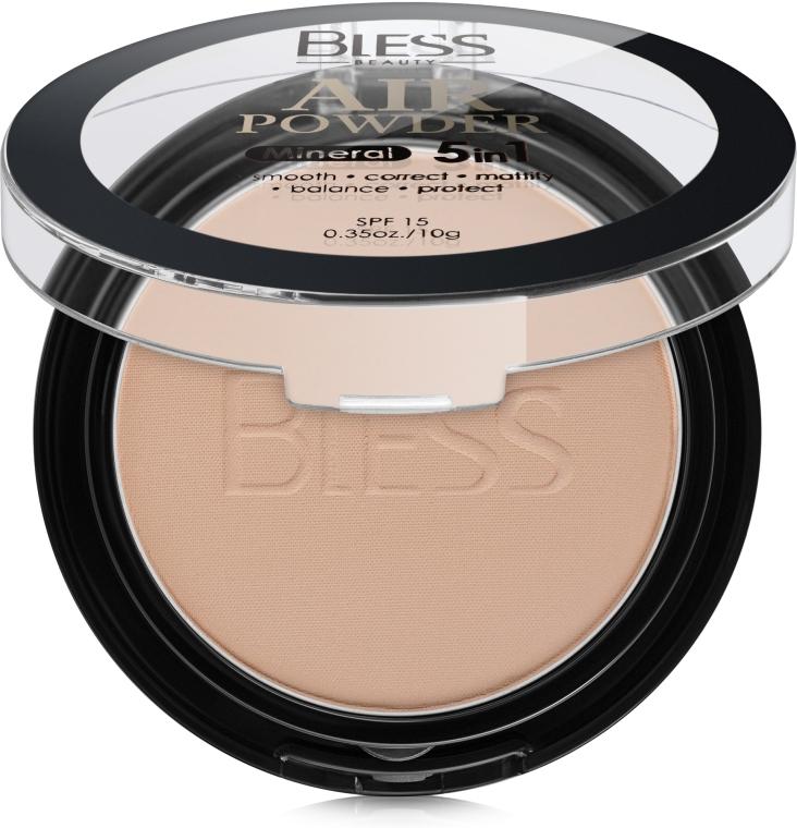 Компактная пудра для лица - Bless Beauty 5in1 Mineral Air Powder SPF 15