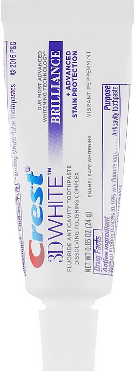 Отбеливающая зубная паста - Crest 3D White Brilliance Vibrant Peppermint Whitening Toothpaste