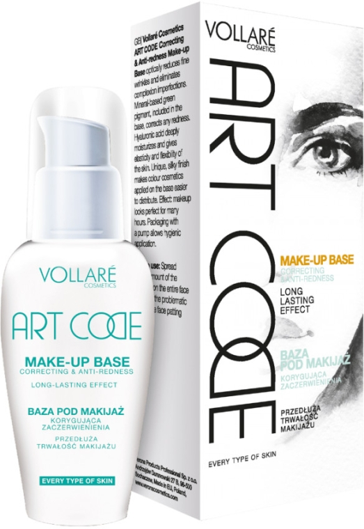 Корректирующая база под макияж - Vollare Cosmetics Art Code Make-up Base Correcting and Anti-Redness