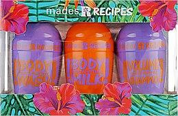 """Парфумерія, косметика Набір """"Фруктовий фестиваль"""" - Mades Cosmetics Recipes (shm/100ml + sh/gel/100ml + b/milk/100ml)"""