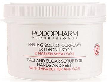 Сахарно-солевой пилинг для ладоней и стоп с ягодами годжи и маслом ши - Podopharm Professional Salt And Sugar Scrub