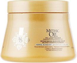 Духи, Парфюмерия, косметика Питательная маска для нормальных и тонких волос - L'Oreal Professionnel Mythic Oil Mask