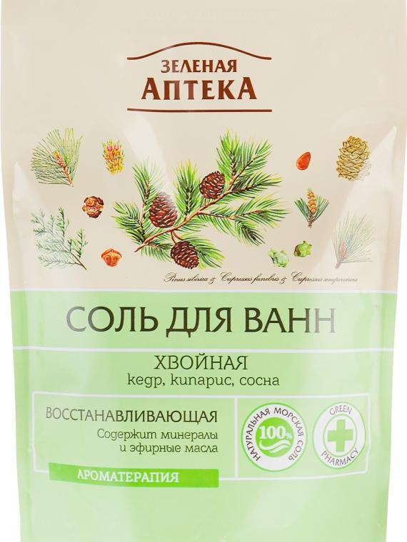 """Восстанавливающая соль для ванны """"Хвойная"""" - Зеленая Аптека"""