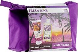 Духи, Парфюмерия, косметика Набор - Fresh Juice Purple Sunset Set (oil/150ml + peel/200ml + bag)