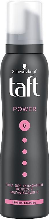 """Пена-мусс для волос """"Power. Нежность кашемира"""", мегафиксация 5 - Taft Cashmere Power 5"""