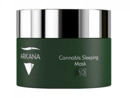 Духи, Парфюмерия, косметика Активная маска для сухой и атопической кожи с маслами конопли и мака - Arkana Cannabis Sleeping Mask