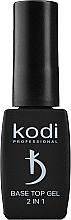 Духи, Парфюмерия, косметика Основа и финиш для гель-лака 2 в 1 - Kodi Professional Base Top