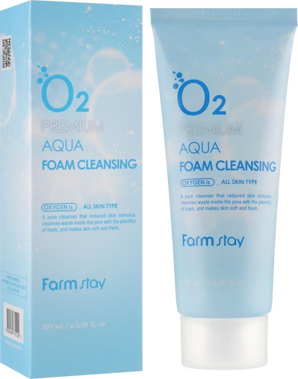 Кислородная пенка для умывания - FarmStay O2 Premium Aqua Foam Cleansing