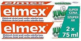 Духи, Парфюмерия, косметика Набор - Elmex Junior Toothpaste (2xtoothpaste/75ml)