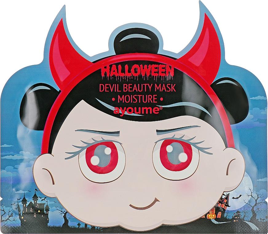 Маска увлажняющая с гиаллуроновой кислотой - Ayoume Halloween Devil Beauty Mask Moisture
