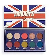 Духи, Парфюмерия, косметика Палетка теней для век, 10 цветов - Makeup Obsession London's Calling Eyeshadow Palette
