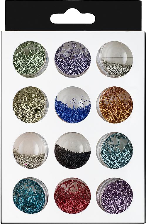 Набор бульенки пластиковые, 12 цветов - Nails Molekula