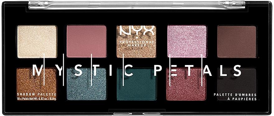 Палетка теней и пигментов для глаз и лица - NYX Professional Makeup Mystic Petals Shadow Palette