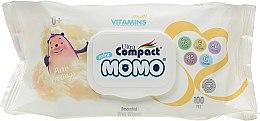 Духи, Парфюмерия, косметика Детские влажные салфетки без отдушки с витаминным комплексом - Ultra Compact Multi Vitamins Mini Momo