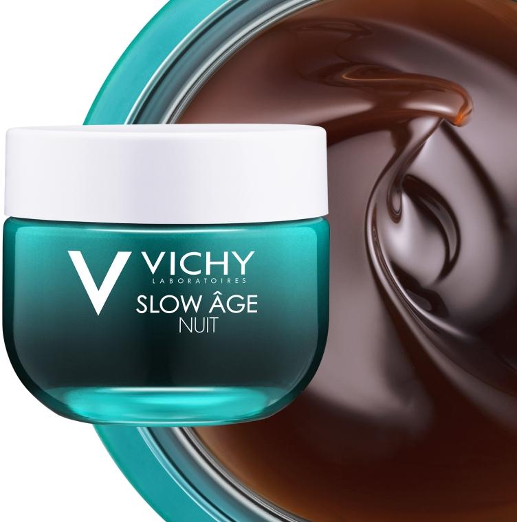 Ночная крем-маска для коррекции признаков старения кожи - Vichy Slow Age Fresh Cream & Mask — фото N3
