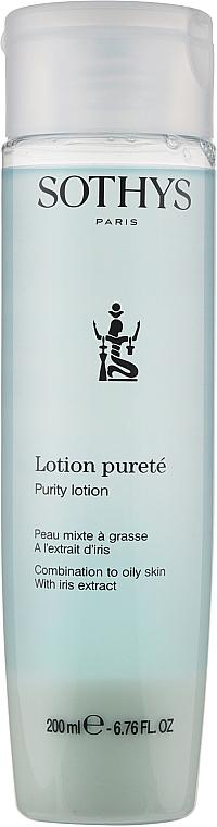 Лосьон-тоник для жирной и комбинированной кожи с экстрактом ириса - Sothys Purity Lotion