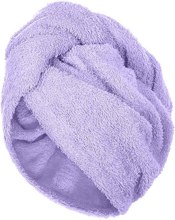Полотенце-тюрбан для сушки волос, лиловое - Makeup