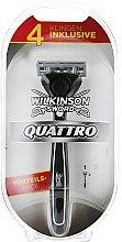 Духи, Парфюмерия, косметика Бритва с 4 сменными кассетами - Wilkinson Sword Quattro Titanium