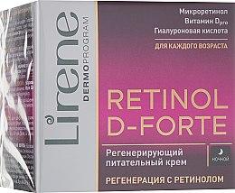 Духи, Парфюмерия, косметика Ночной омолаживающий крем для лица - Lirene Retinol D-Forte Firming and Regenerating Cream 60+