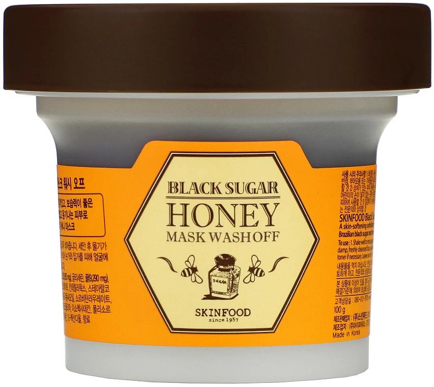 Маска с медом и черным сахаром - SkinFood Black Sugar Honey Mask Wash Off