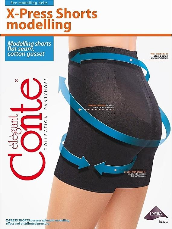 "Леггинсы-шорты утягивающие ""X-Press Shorts"", 90 den, nero - Conte"
