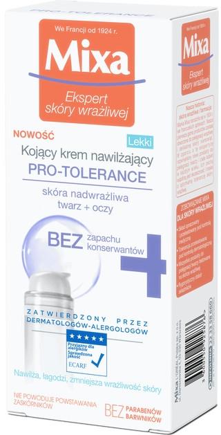 Легкий успокаивающий увлажняющий крем для сухой и сверхчувствительной кожи - Mixa Pro-Tolerance Cream