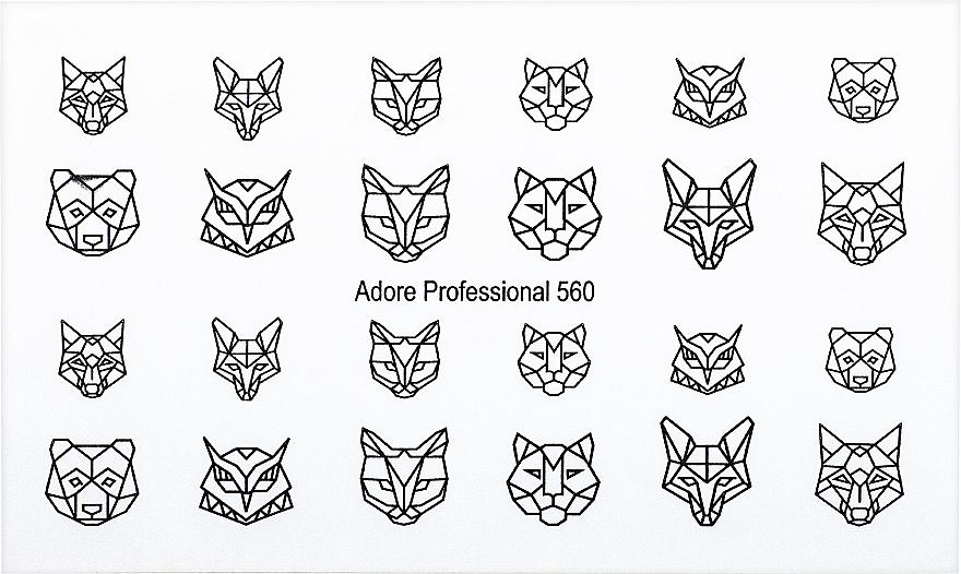 """Дизайнерский трафарет для ногтей """"Оригами"""" - Adore Professional Nailcrust"""