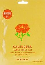 Духи, Парфюмерия, косметика Тканевая маска - Beauadd Baroness Flower Mask Sheet Calendula Flower