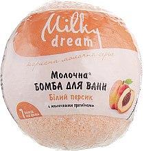 "Духи, Парфюмерия, косметика Бомба для ванн ""Белый персик"" с молочными протеинами - Milky Dream"