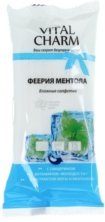 """Влажные очищающие салфетки для рук """"Феерия ментола"""" - Vital Charm"""