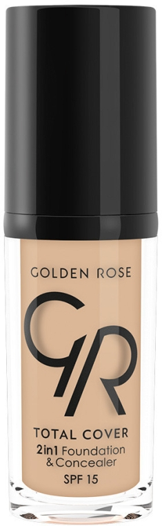 Тональный крем-корректор - Golden Rose Total Cover 2in1 Foundation & Concealer