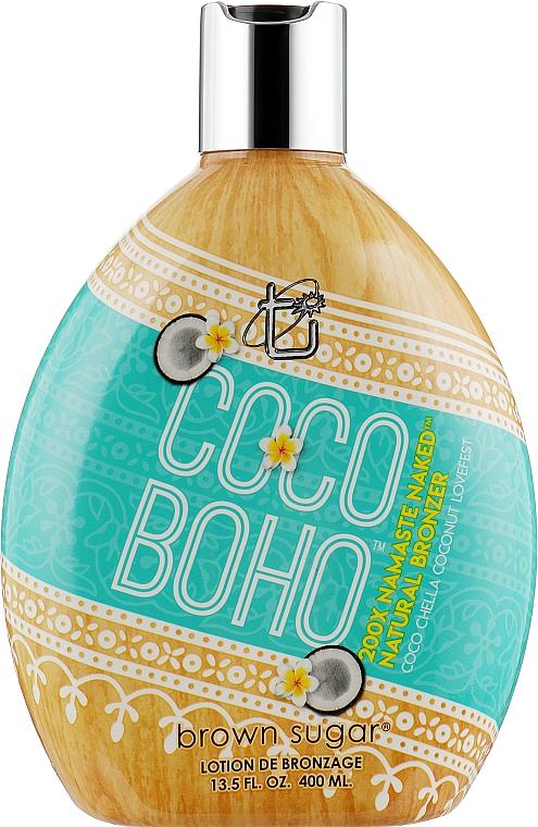 Крем для солярия на основе кокосового молочка с розовой солью - Tan Incorporated Coco Boho 200X Brown Sugar Tanning Lotion