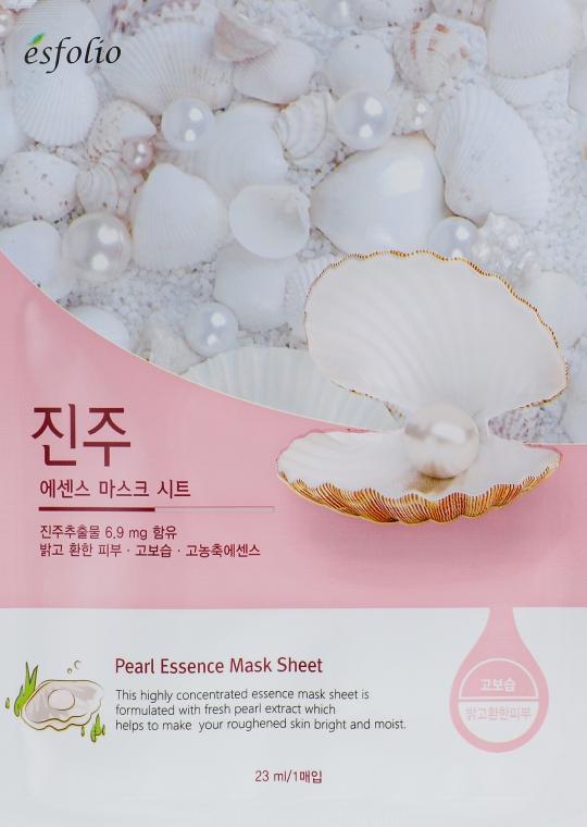 Тканевая маска c жемчугом - Esfolio Pure Skin Pearl Essence Mask Sheet