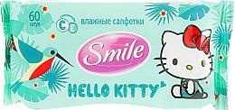 "Духи, Парфюмерия, косметика Влажные салфетки ""Hello Kitty"" 60шт, зеленые - Smile Ukraine Hello Kitty"