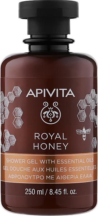 """Гель для душа с эфирными маслами """"Королевский мёд"""" - Apivita Shower Gel Royal Honey"""