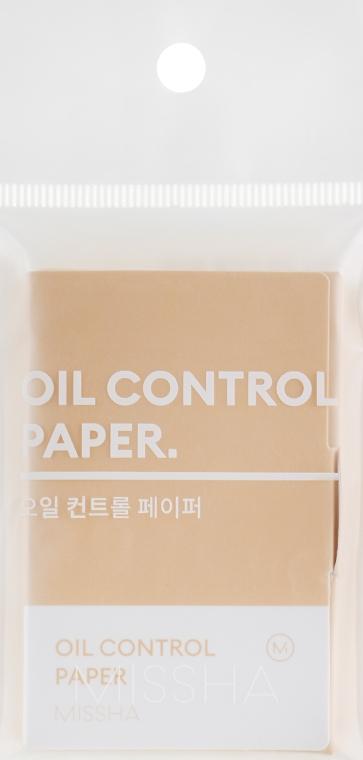 Матирующие салфетки - Missha Oil Control Paper