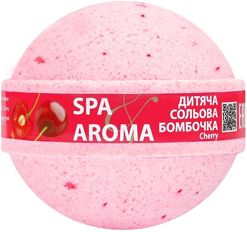 "Детская солевая бомбочка для ванн ""Вишня"" - Bioton Cosmetics Spa & Aroma Cherry Bath Bomb"
