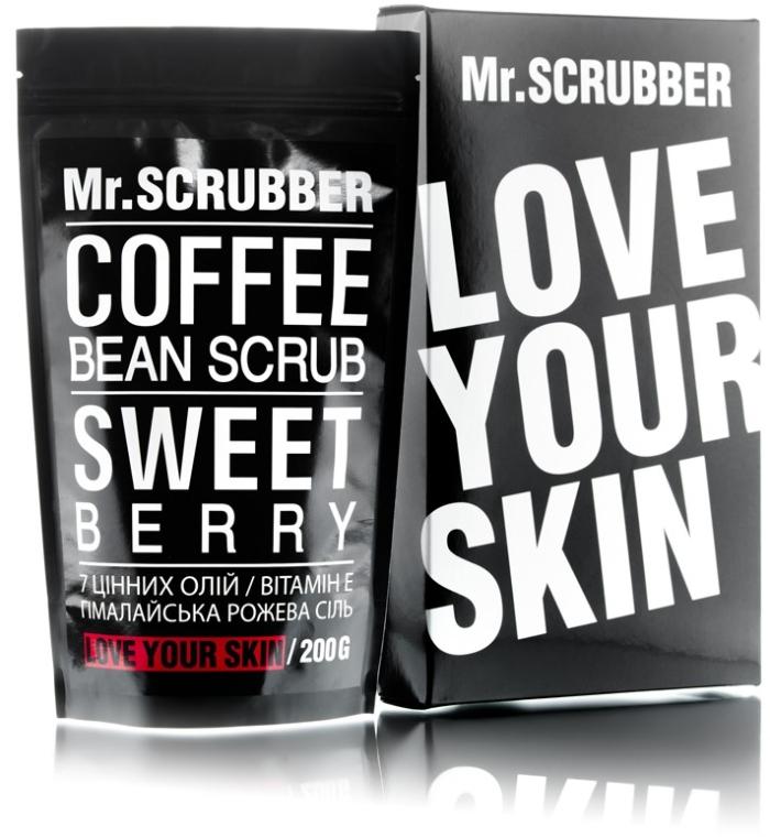 Кофейный скраб для тела - Mr.Scrubber Sweet Berry Scrub