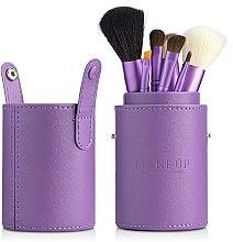 Набор кистей для макияжа в тубусе, фиолетовый, 7шт - MakeUp — фото N3