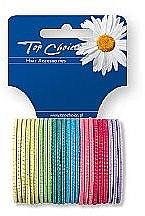 Духи, Парфюмерия, косметика Резинки для волос тонкие 22173, 24 шт, микс цветов - Top Choice