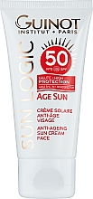 Духи, Парфюмерия, косметика Антивозрастной крем от солнца - Guinot Age Sun Anti-Ageing Sun Cream Face SPF50