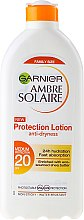 Духи, Парфюмерия, косметика Солнцезащитное молочко SPF 20 - Garnier Ambre Solaire Waterproof Protection Lotion SPF 20