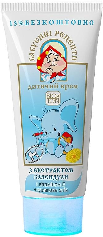 Детский крем с экстрактом календулы и оливковым маслом - Bioton Cosmetics Body Cream