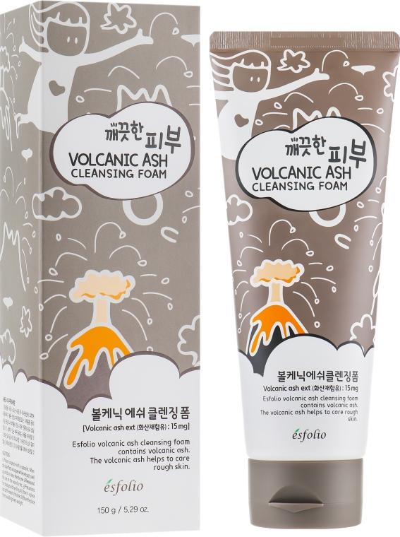 Пенка для умывания с вулканическим пеплом - Esfolio Pure Skin Volcanic Ash Cleansing Foam
