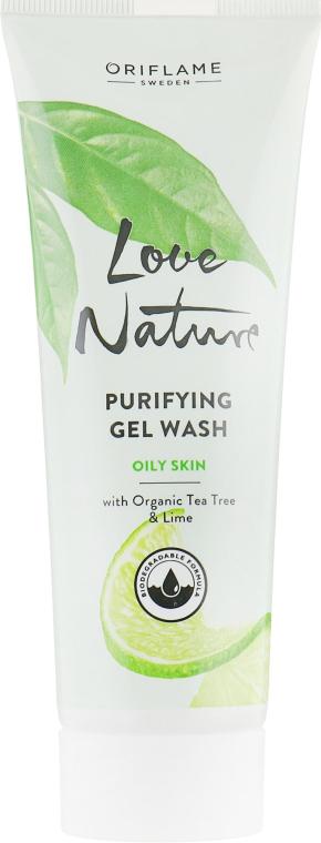 Очищающий гель для умывания с органическим чайным деревом и лаймом - Oriflame Love Nature Purifying Gel Wash