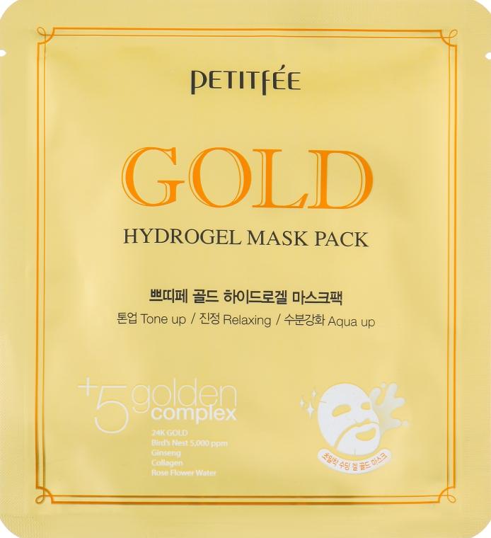 Гидрогелевая маска для лица с золотым комплексом +5 - Petitfee&Koelf Gold Hydrogel Mask Pack +5 golden complex